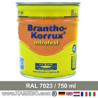 BRANTHO-KORRUX NITROFEST Korrosionsschutzlack RAL 7023 Betongrau 750 ml