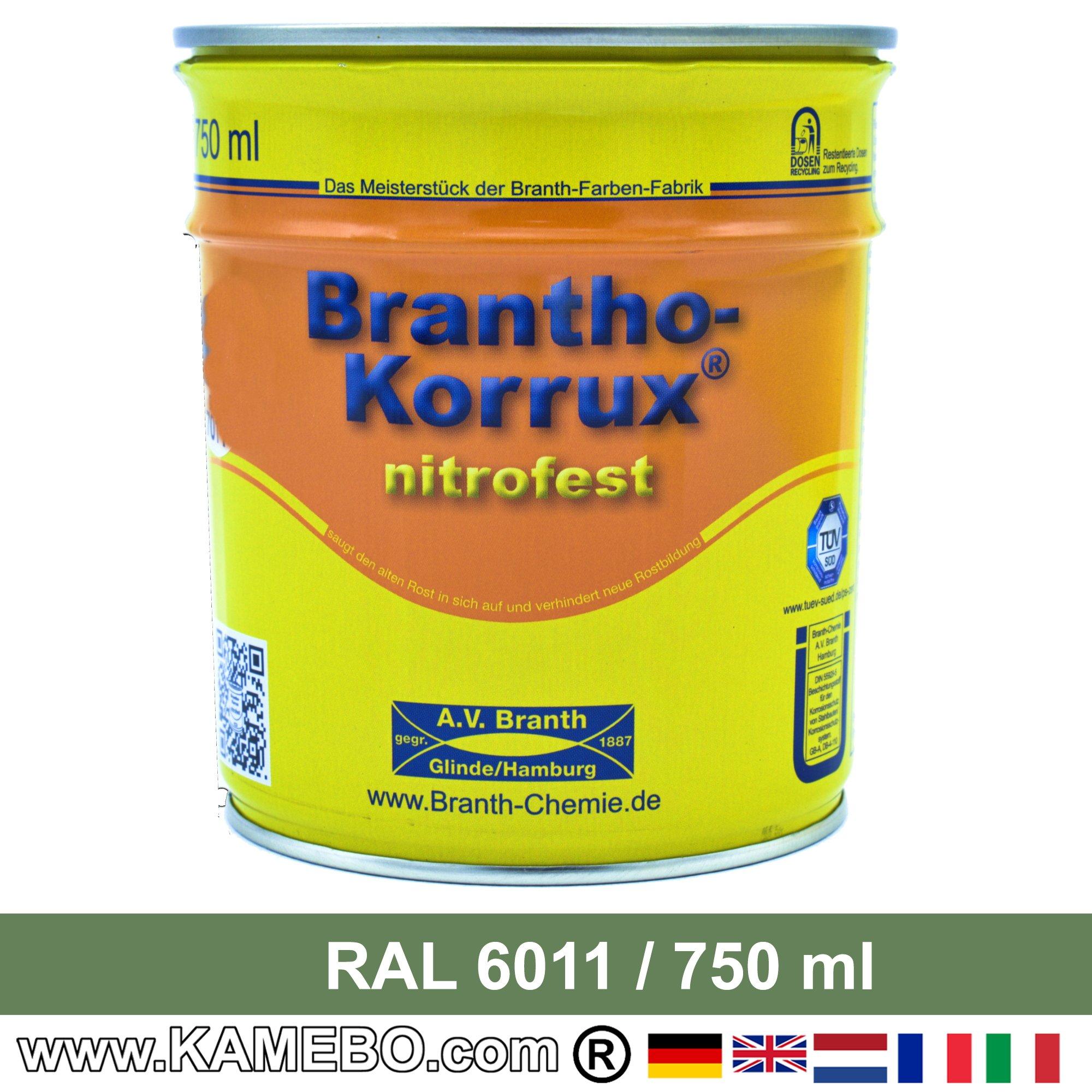 brantho korrux nitrofest korrosionsschutzlack ral 6011. Black Bedroom Furniture Sets. Home Design Ideas