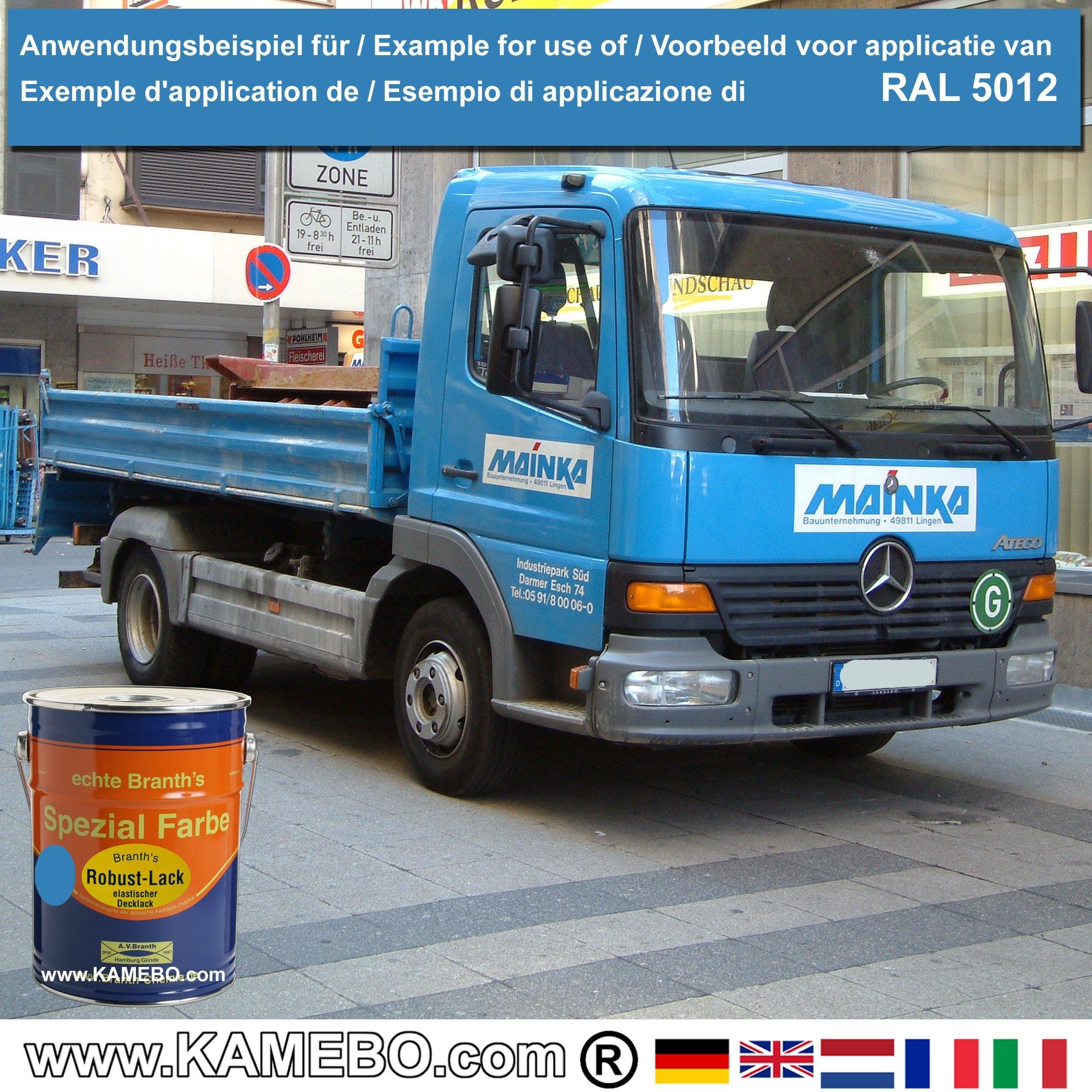 BRANTH's ROBUST LACK Metallschutzlack RAL 5012 Lichtblau 5