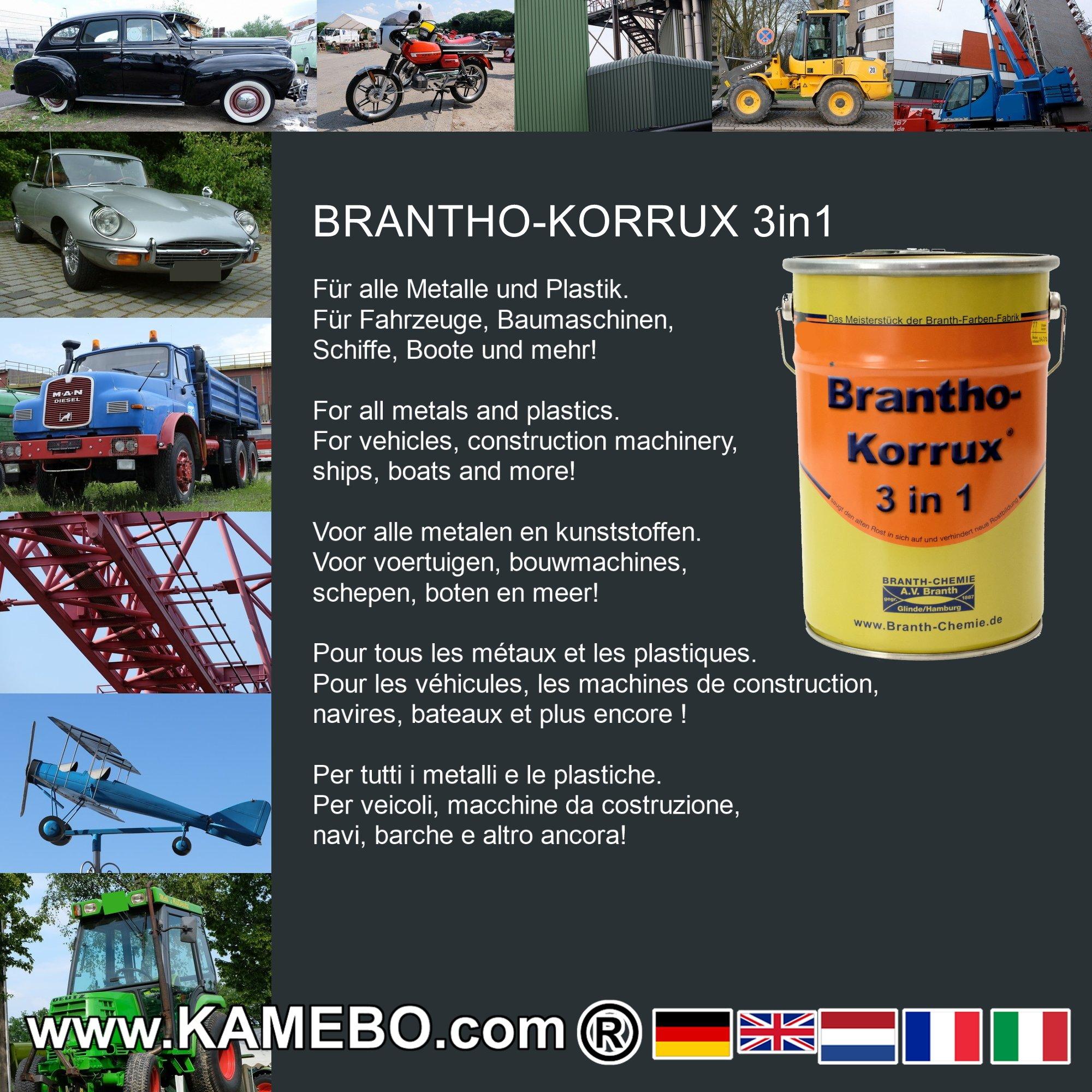 brantho korrux 3in1 peinture antirouille ral 7016 gris anthracite 5 litres kamebo. Black Bedroom Furniture Sets. Home Design Ideas