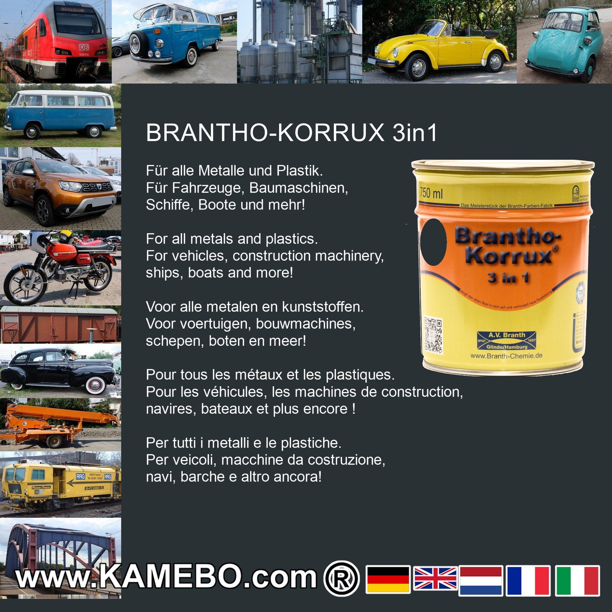 brantho korrux 3in1 vernice antiruggine ral 7016 grigio. Black Bedroom Furniture Sets. Home Design Ideas