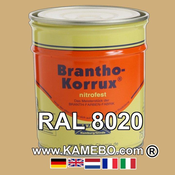 7cc4d49e6d Military Vehicle Paint Mat RAL 8020 Afrika Braun Nr. 42   Sand yellow 25  Litres
