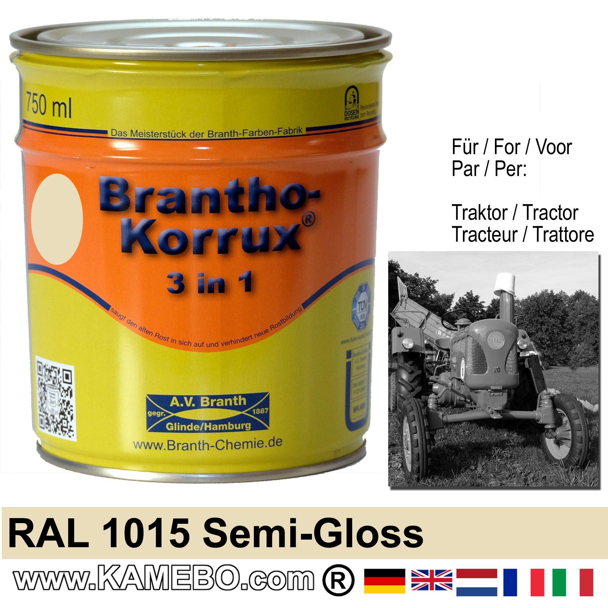 3in1 peinture tracteur satin e brillante ral 1015 ivoire for Peinture brillante ou satinee