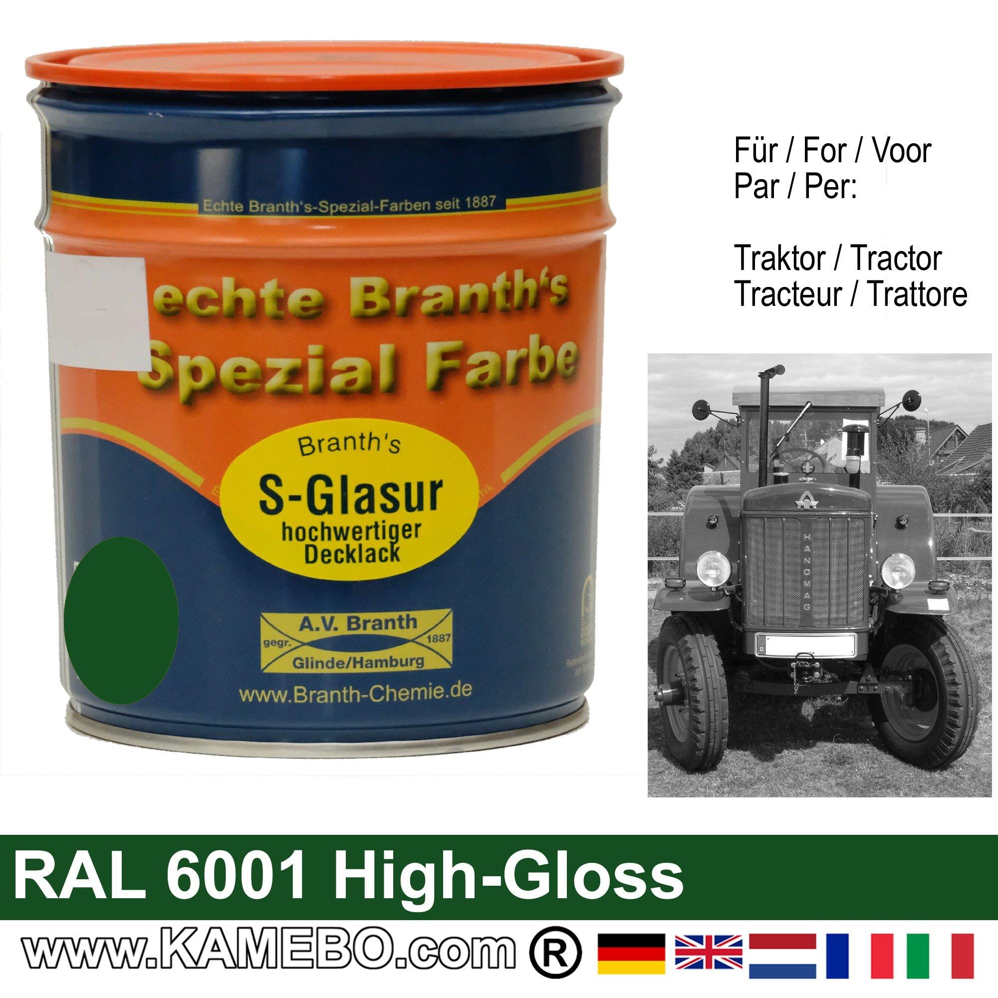 Peinture tracteur brillant ral 6001 vert meraude 750 ml - Vert emeraude peinture ...