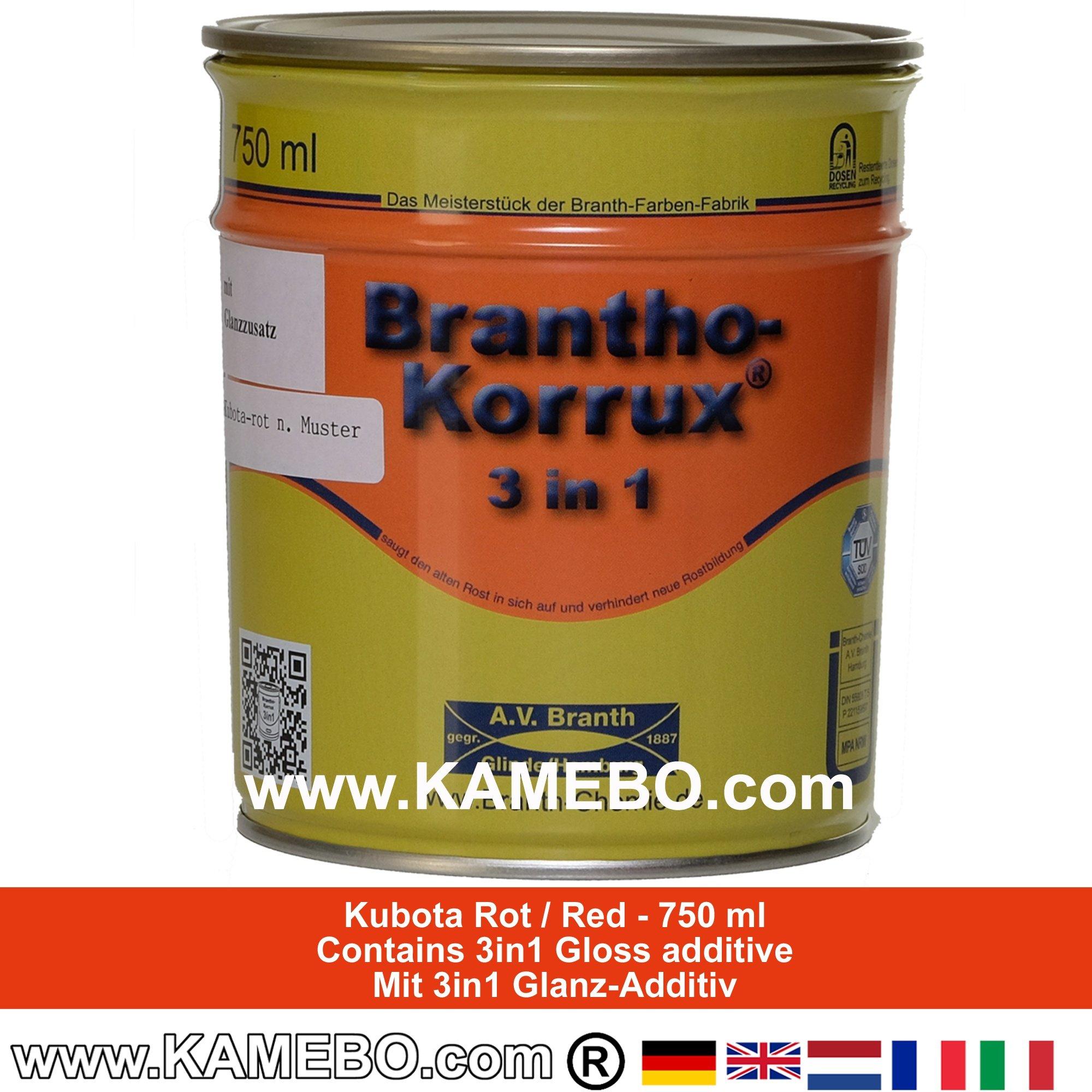 brantho korrux 3in1 rostschutzlack kubota rot 750 ml. Black Bedroom Furniture Sets. Home Design Ideas