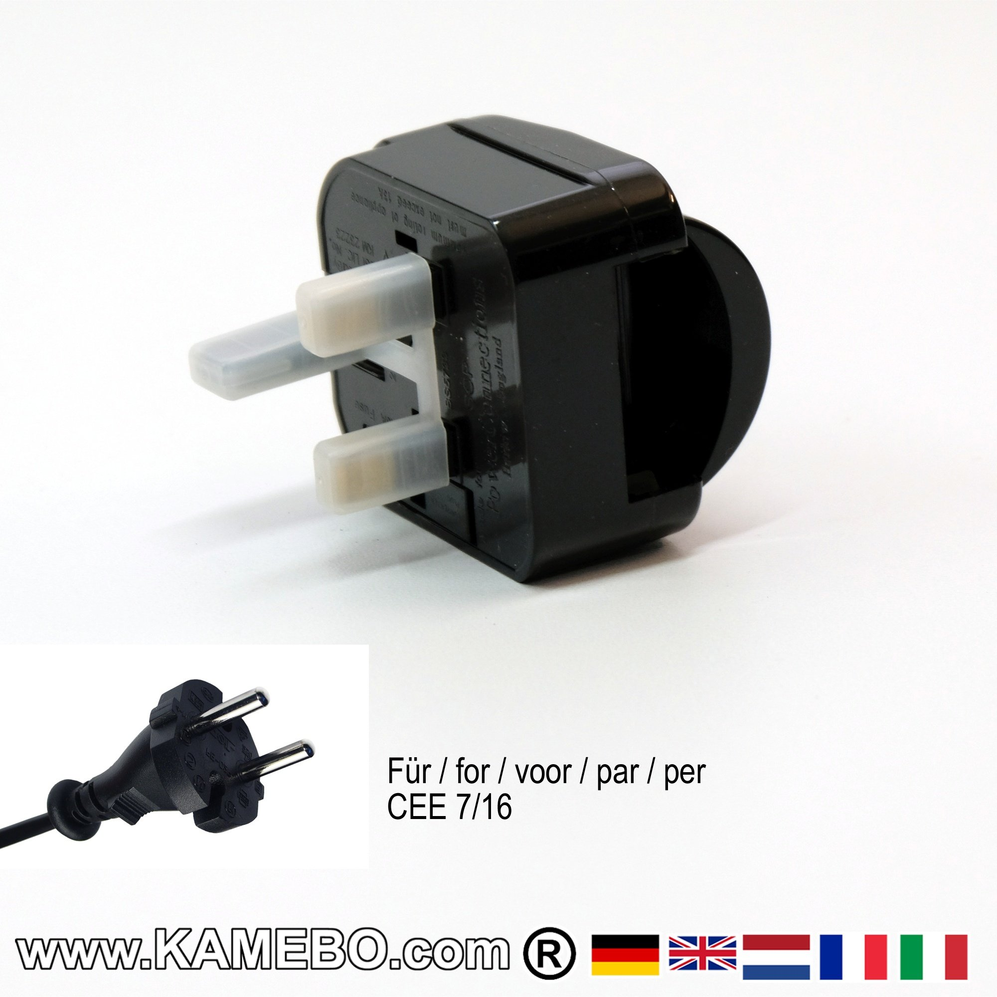 Travel Adaptor Three-Pole Plug BS 1363 - KAMEBO®