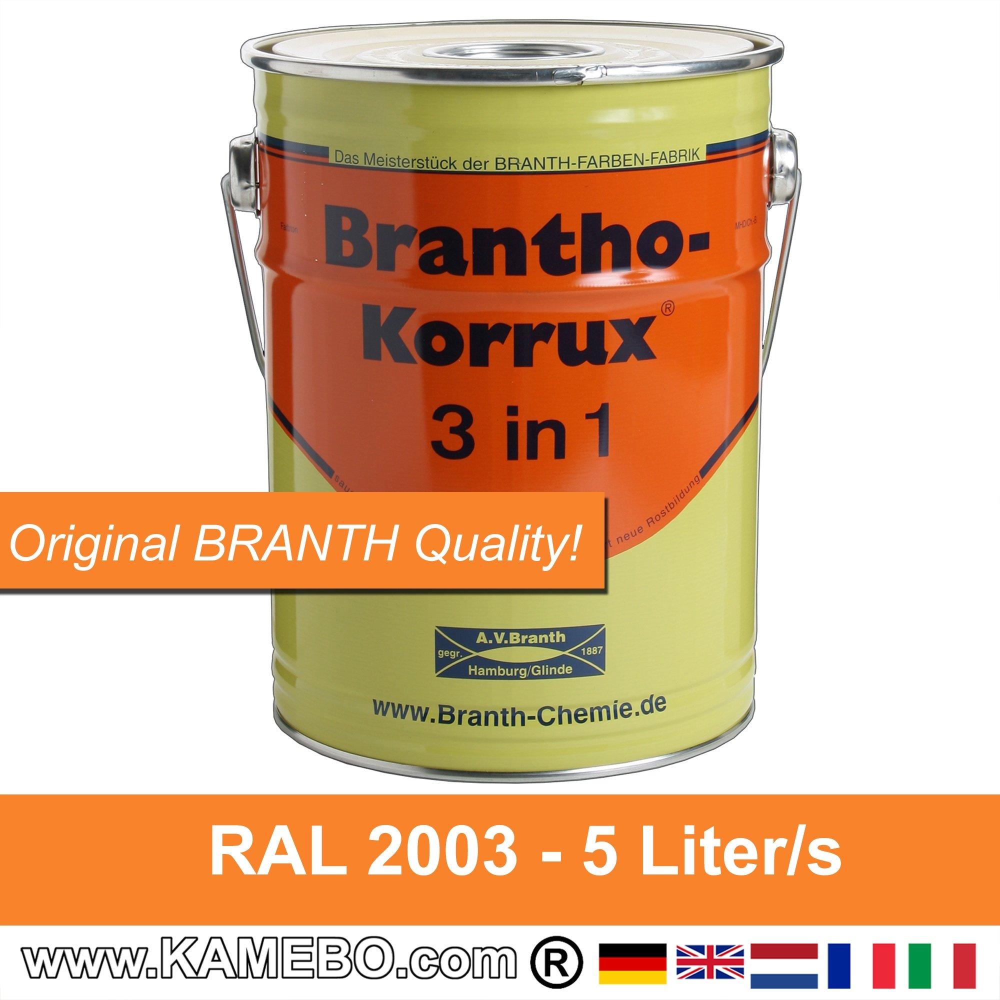 brantho korrux 3 in 1 peinture antirouille pour m tal ral 2003 orange pastel 5 litres kamebo. Black Bedroom Furniture Sets. Home Design Ideas