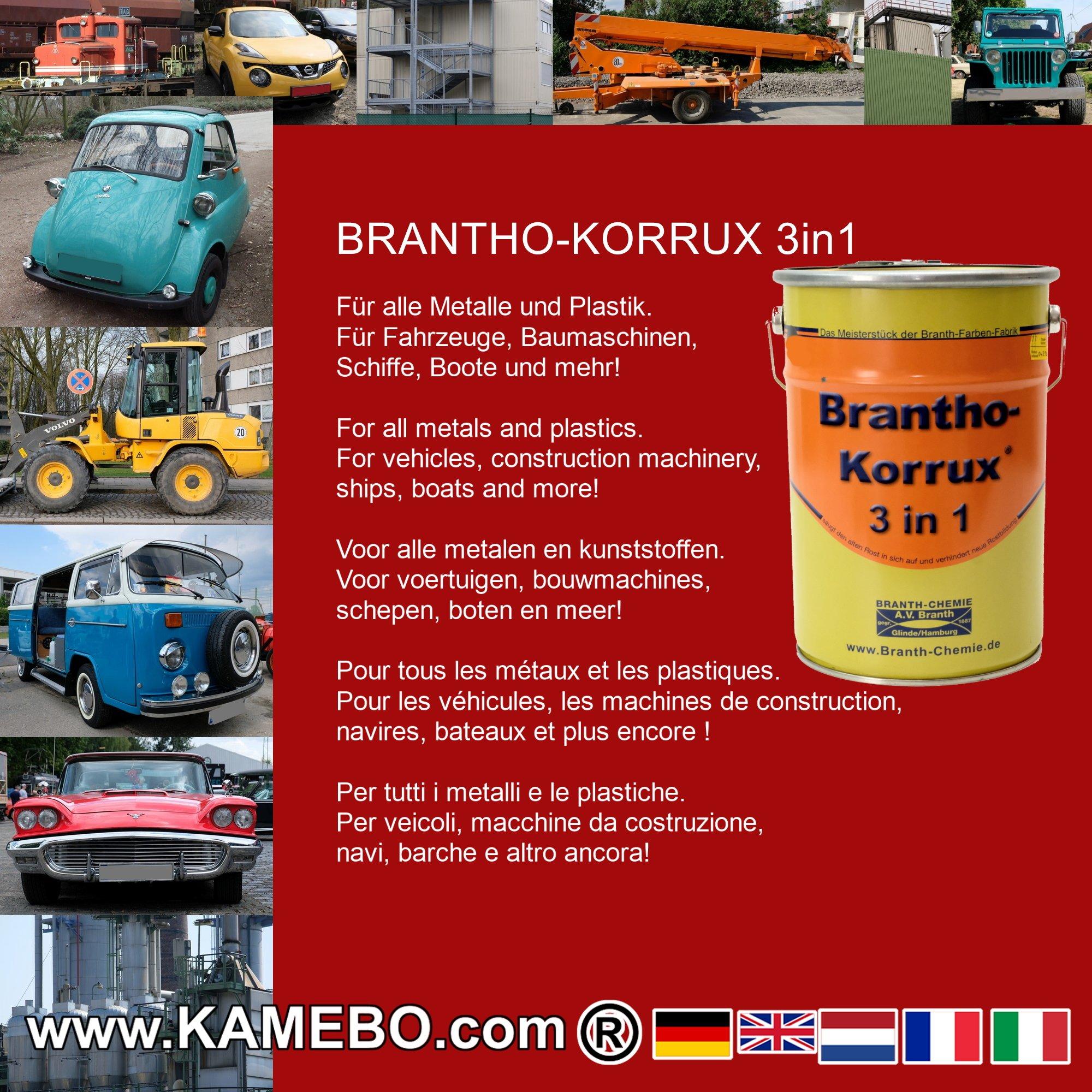 brantho korrux 3 in 1 rostschutzfarbe f r metall ral 3003 rubinrot 5 liter. Black Bedroom Furniture Sets. Home Design Ideas