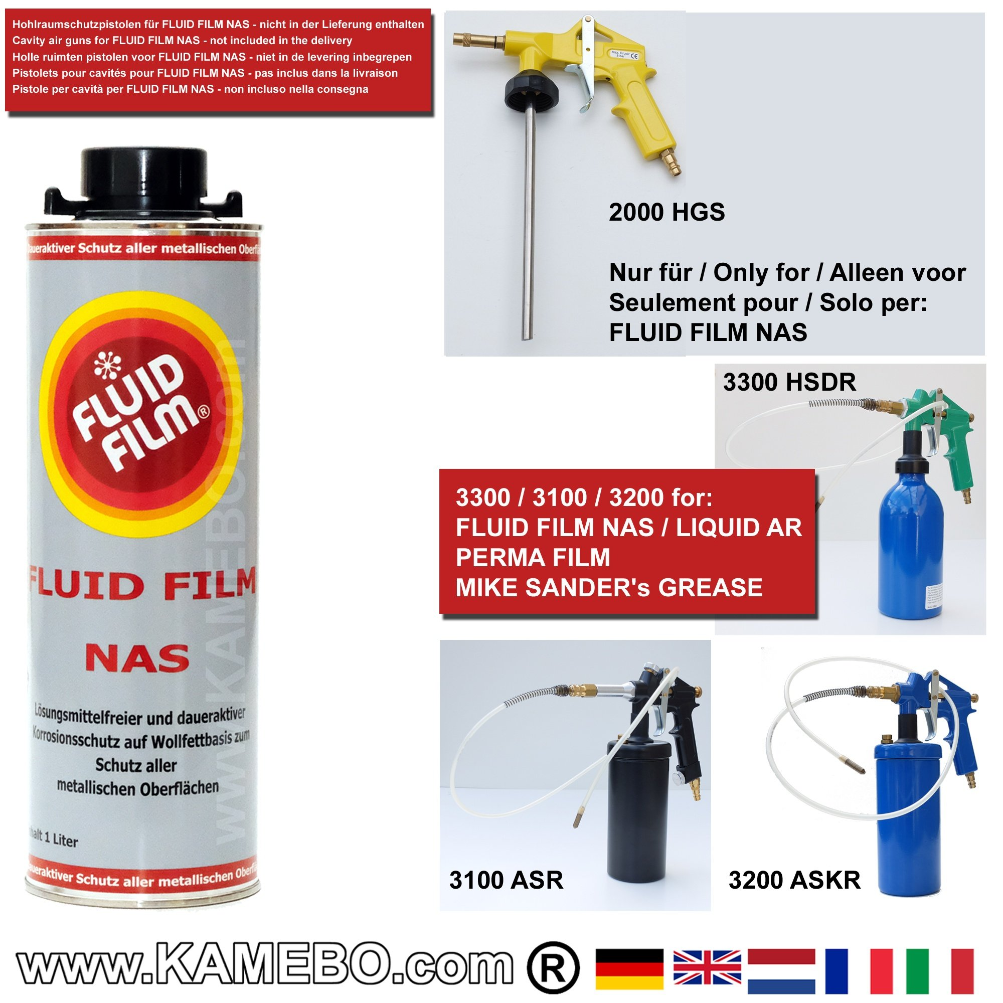 fluid film nas cavity protection anti rust oil 1 litre. Black Bedroom Furniture Sets. Home Design Ideas