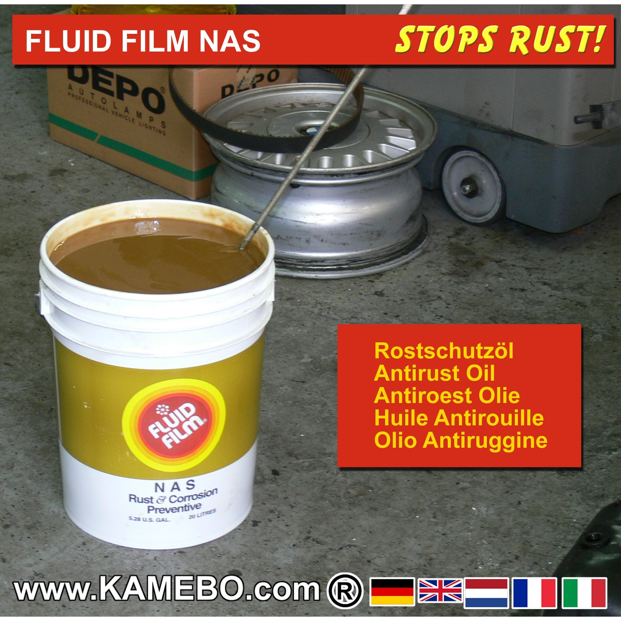 fluid film nas antirust oil 20 litres kamebo. Black Bedroom Furniture Sets. Home Design Ideas