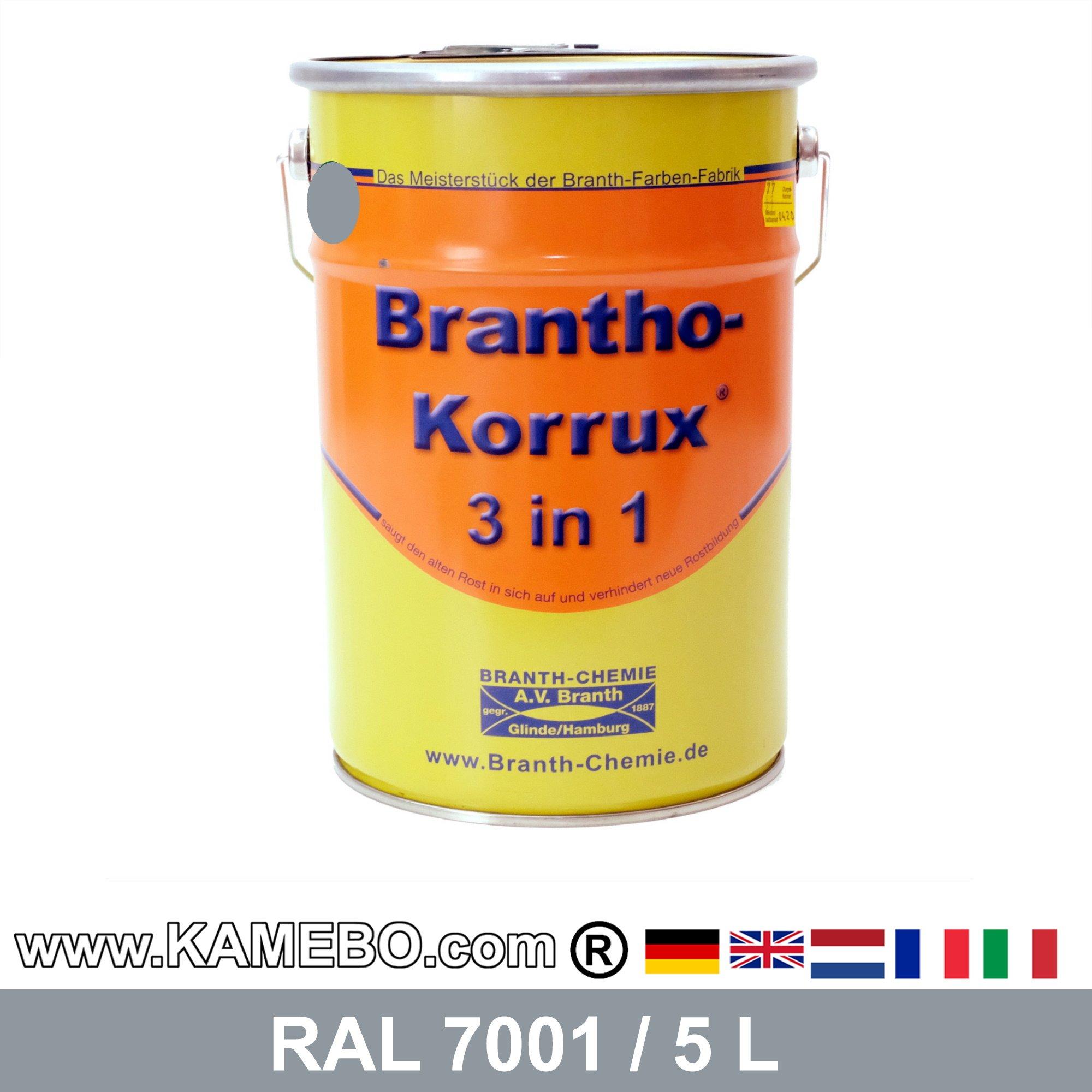 brantho korrux 3in1 peinture antirouille ral 7001 gris. Black Bedroom Furniture Sets. Home Design Ideas