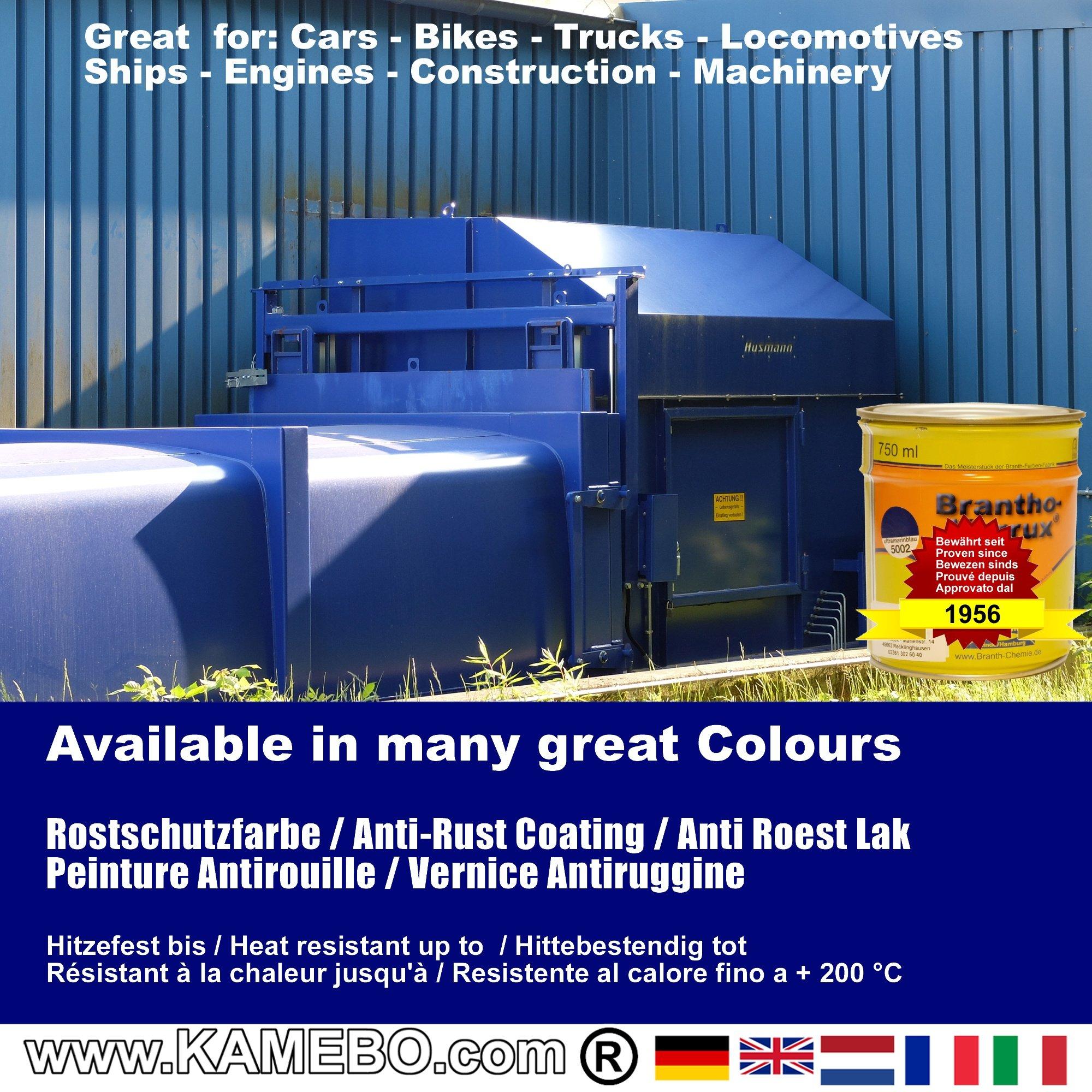Brantho Korrux 3in1 Peinture Antirouille Ral 5002 Bleu