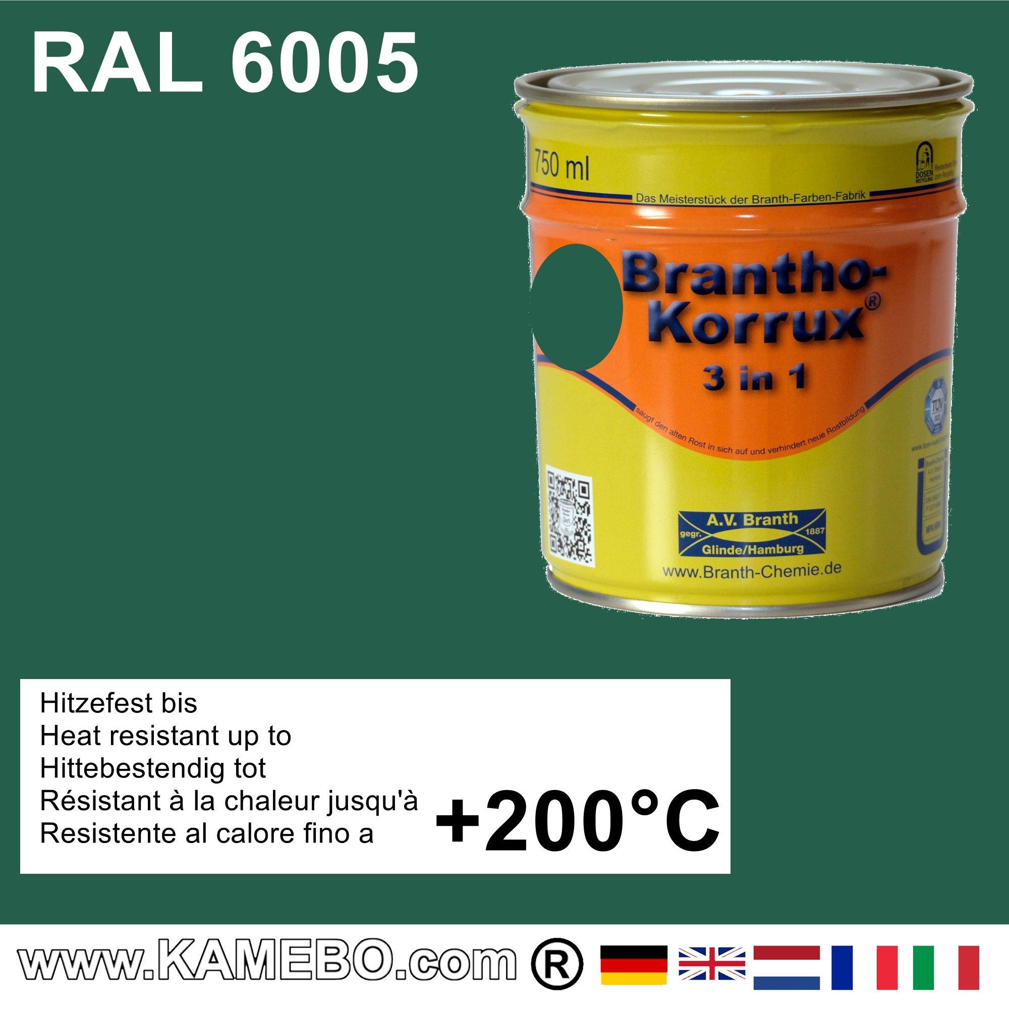 brantho korrux 3in1 rostschutzlack ral 6005 moosgr n 750 ml. Black Bedroom Furniture Sets. Home Design Ideas