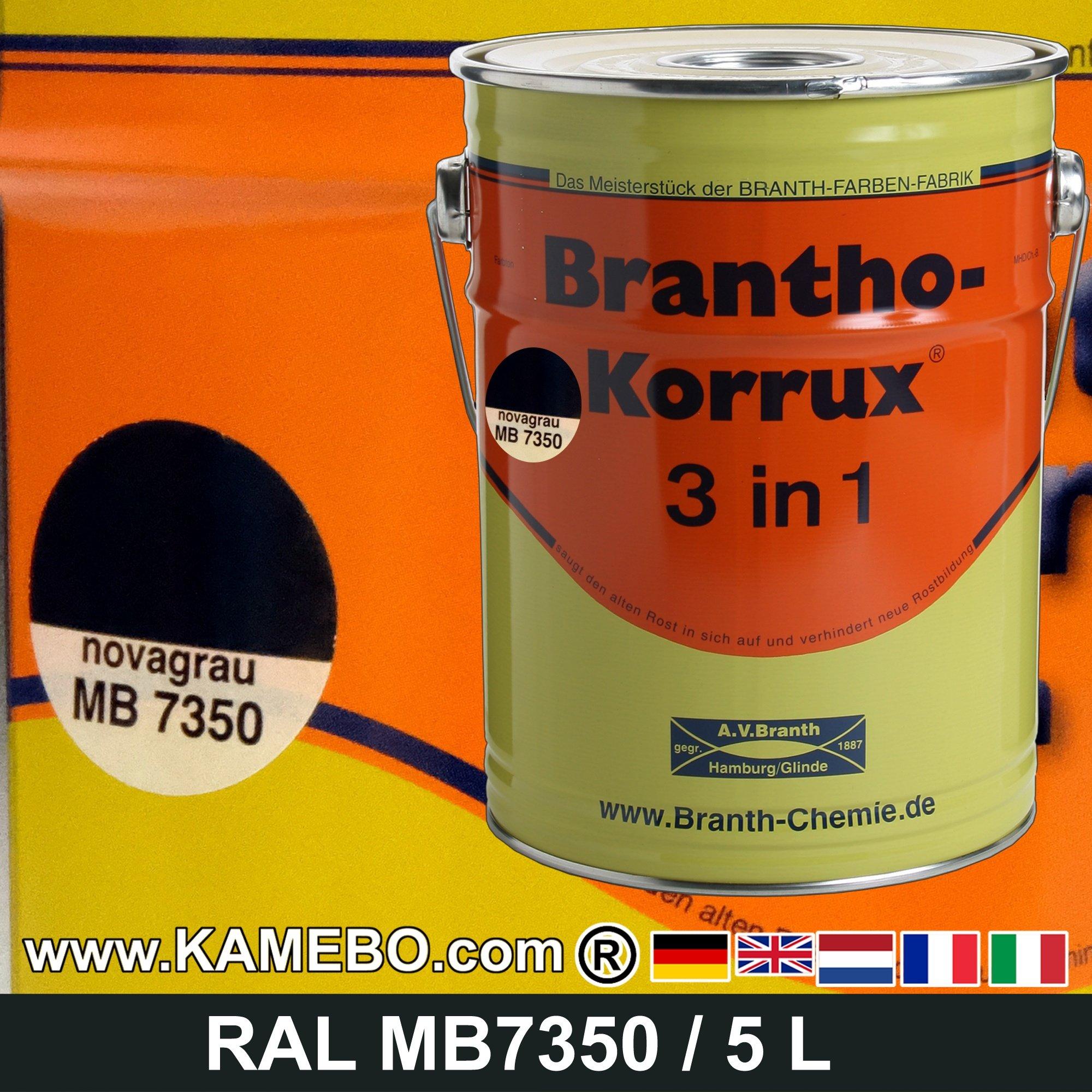 brantho korrux 3in1 peinture antirouille nova gris pour. Black Bedroom Furniture Sets. Home Design Ideas