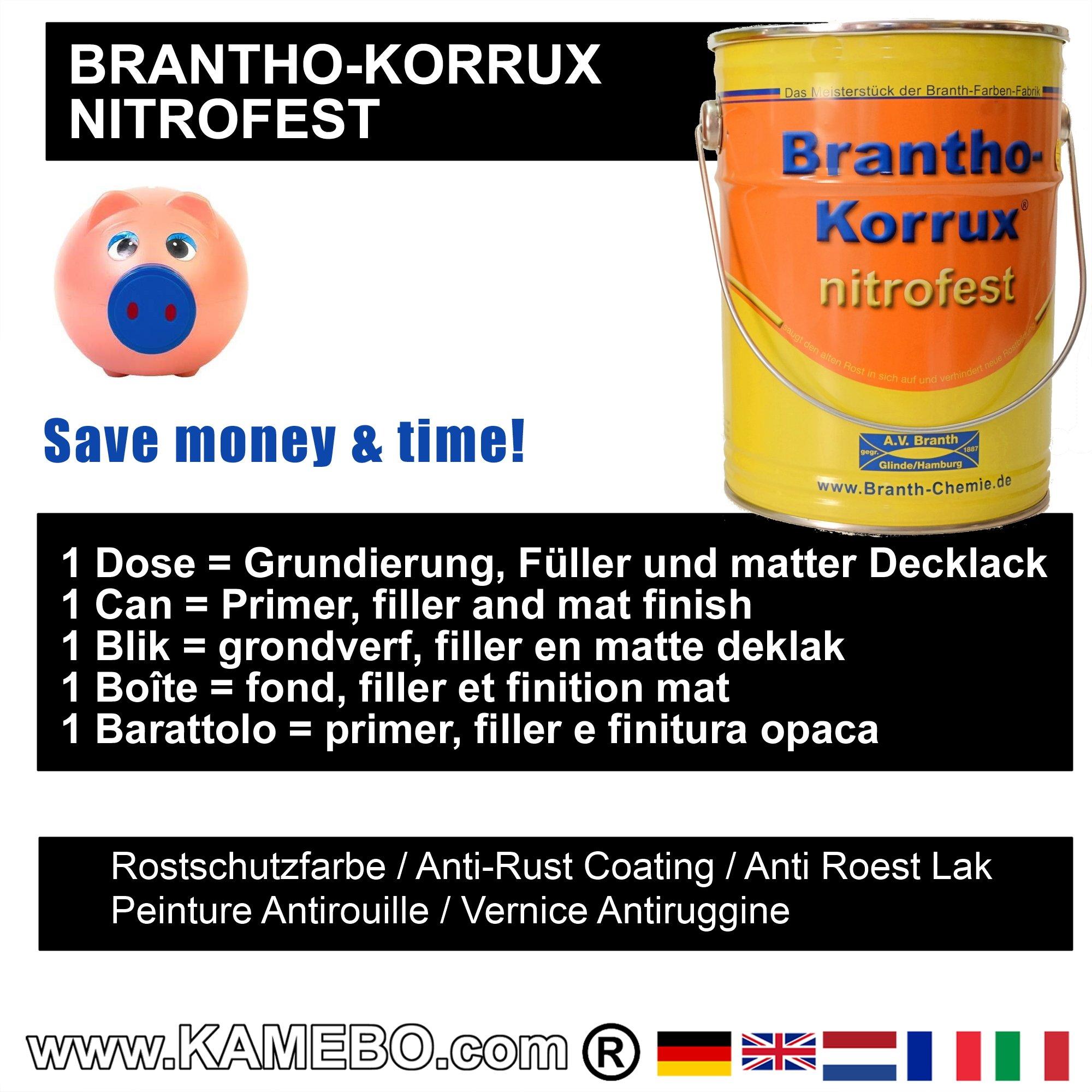 brantho korrux nitrofest anti roest lakverf ral 9005 zwart. Black Bedroom Furniture Sets. Home Design Ideas