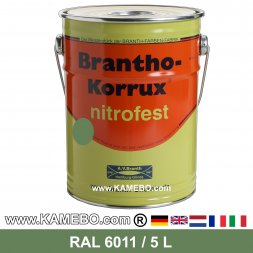 BRANTHO-KORRUX NITROFEST Korrosionsschutzlack RAL 6011 Resedagrün 5 Liter