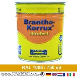 BRANTHO-KORRUX NITROFEST Korrosionsschutzlack RAL 1006 Maisgelb 750 ml