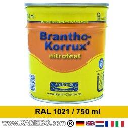 BRANTHO-KORRUX NITROFEST Korrosionsschutzlack RAL 1021 Rapsgelb 5 Liter