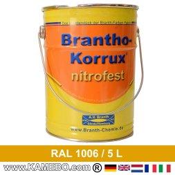 BRANTHO-KORRUX NITROFEST Korrosionsschutzlack RAL 1006 Maisgelb 5 Liter