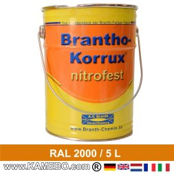 BRANTHO-KORRUX NITROFEST Korrosionsschutzlack RAL 2000 Gelborange 5 Liter
