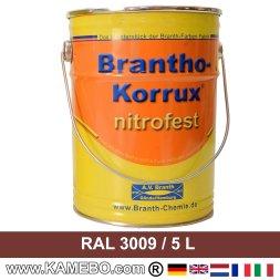 BRANTHO-KORRUX NITROFEST Korrosionsschutzlack RAL 3009 Rotbraun 5 Liter