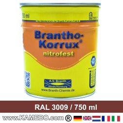 BRANTHO-KORRUX NITROFEST Korrosionsschutzlack RAL 3009 Rotbraun 750 ml
