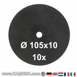 AirApp Schruppscheiben Ø 105 x 10 mm ZB-T6/10 10 Stück