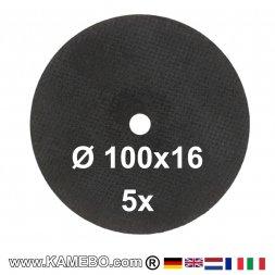 RODCRAFT Schruppscheiben Ø 100 x 16 mm 100SCH 5 Stück