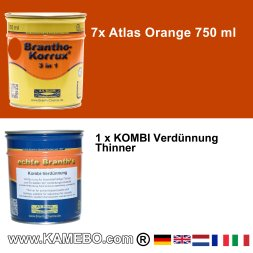 BRANTHO-KORRUX 3in1 Atlas Orange Baumaschinen Kit 2