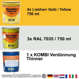 BRANTHO-KORRUX 3in1 Liebherr Yellow Building Machinery Kit 1