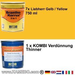 BRANTHO-KORRUX 3in1 Liebherr Yellow Building Machinery Kit 2