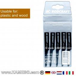 RODCRAFT Sägeblätter für Kunststoff und Holz 605814 5 Stück