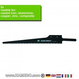 RODCRAFT SIG Sägeblätter für Aluminium 605424 5 Stück