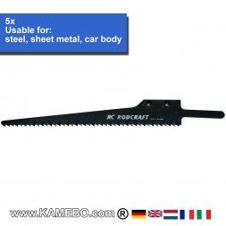 RODCRAFT SIG Sägeblätter für Stahl 605532 5 Stück