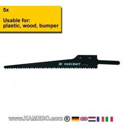 RODCRAFT SIG Sägeblätter für Aluminium und Holz 605618 5 Stück