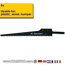 RODCRAFT Sägeblätter für Kunststoff und Holz SB18L 5 Stück