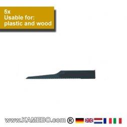 AirApp Sägeblätter für Kunststoff und Holz ZB-18 5 Stück