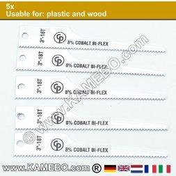 CHICAGO PNEUMATIC Sägeblätter für Kunststoff und Holz 18/CP7900 5 Stück
