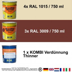 BRANTHO-KORRUX 3in1 RAL 1015 RAL 3009 Kit 1