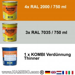 BRANTHO-KORRUX 3in1 RAL 2000 RAL 7035 Kit 1