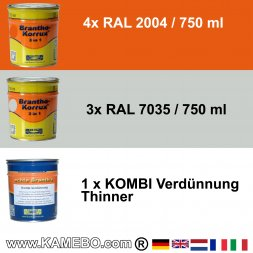 BRANTHO-KORRUX 3in1 RAL 2004 RAL 7035 Kit 1
