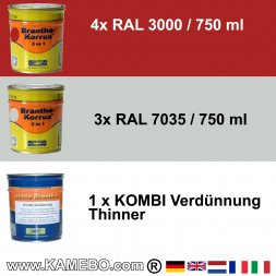 BRANTHO-KORRUX 3in1 RAL 3000 RAL 7035 Kit 1