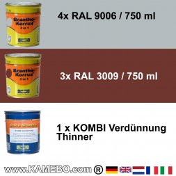BRANTHO-KORRUX 3in1 RAL 9006 RAL 3009 Kit 1