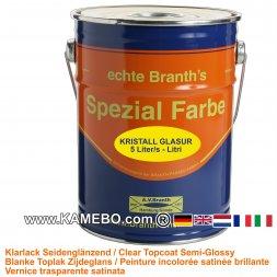 BRANTH's KRISTALL GLASUR Klarlack Seidenglänzend 5 Liter