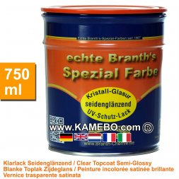 BRANTH's KRISTALL GLASUR Klarlack Seidenglänzend 750 ml