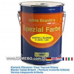 BRANTH's KRISTALL GLASUR Klarlack Glänzend 5 Liter