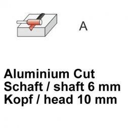 CP Fräser Aluminium Cut Zylinderform ohne Stirnverzahnung Ø 6 / 10 mm
