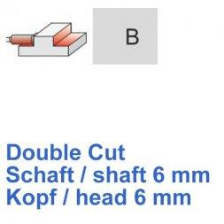 CP Fräser Double Cut Zylinderform mit Stirnverzahnung Ø 6 / 6 mm