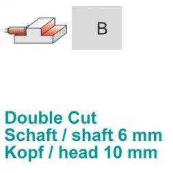 CP Fräser Double Cut Zylinderform mit Stirnverzahnung Ø 6 / 10 mm