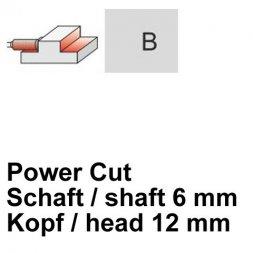 CP Fräser Power Cut Zylinderform mit Stirnverzahnung Ø 6 / 12 mm